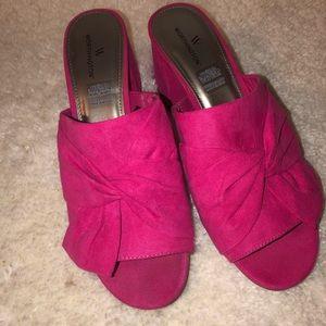 Pink heel slides
